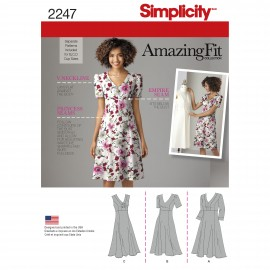 Adjusted empire dress sewing Pattern for Woman - Simplicity n°2247