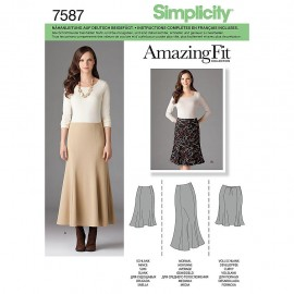 Adjusted skirt sewing Pattern for Woman - Simplicity n°2058