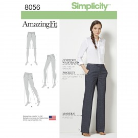 Adjusted pants sewing Pattern for Woman - Simplicity n°8056