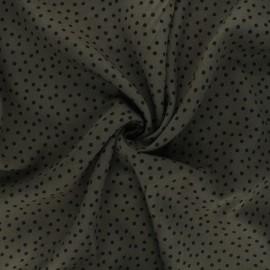 Twill viscose fabric - dark khaki Dottie x 10 cm