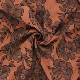 Twill viscose fabric - camel Anémone x 10 cm
