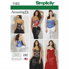 Adjusted corset sewing Pattern for Woman - Simplicity n°1183