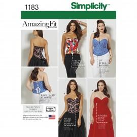 Patron Corset ajusté Femme - Simplicity n°1183