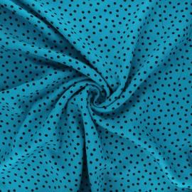 Twill viscose fabric - lagoon blue Dottie x 10 cm
