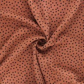 Twill viscose fabric - camel Dottie x 10 cm