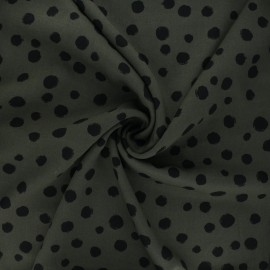 Twill viscose fabric - dark khaki Bachata x 10 cm