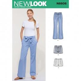 Pantalon Ceinturé Femme - New Look 6606