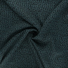 Twill viscose fabric - peacock green Links x 10 cm