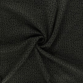 Twill viscose fabric - dark khaki Links x 10 cm
