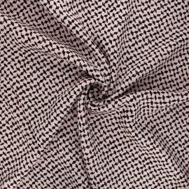 Tissu twill viscose Dagger - rose clair x 10 cm