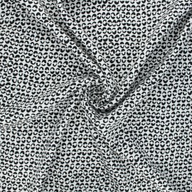 Twill viscose fabric - white Links x 10 cm