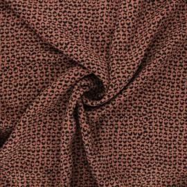 Twill viscose fabric - camel Links x 10 cm