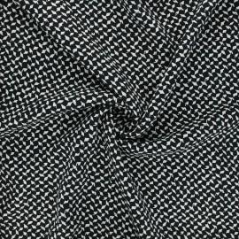 Twill viscose fabric - black Dagger x 10 cm
