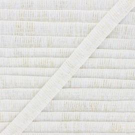 Galon lurex Wooly 18 mm - blanc x 1m