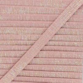 Galon lurex Wooly 18 mm - rose x 1m