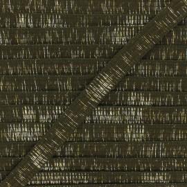 18mm lurex trimming ribbon - khaki green Wooly x 1m