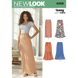 Flared Panel Skirt Sewing Pattern for Woman - New Look 6288