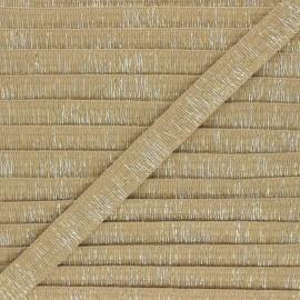 18mm lurex trimming ribbon - sand Wooly x 1m