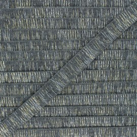 18mm lurex trimming ribbon - grey Wooly x 1m