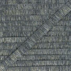 Galon lurex Wooly 18 mm - gris x 1m
