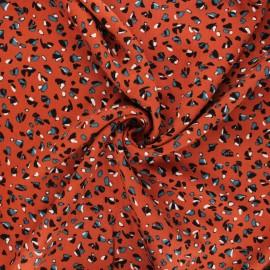Twill viscose fabric - rust Baltik x 10 cm