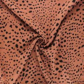 Twill viscose fabric - camel Ridz x 10 cm