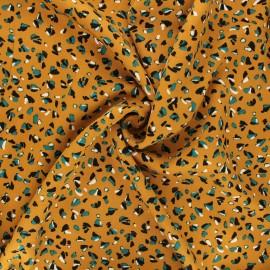 Twill viscose fabric - ochre Baltik x 10 cm