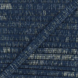 18mm lurex trimming ribbon - navy blue Wooly x 1m