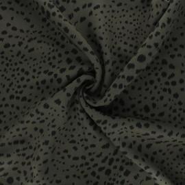 Twill viscose fabric - dark khaki Ridz x 10 cm