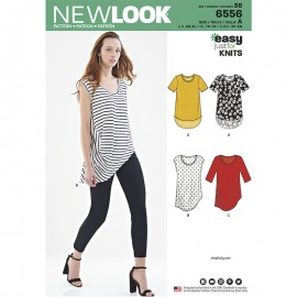 Asymmetric T-shirt Sewing Pattern for Woman - New Look 6556