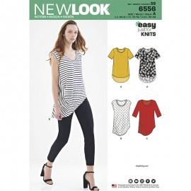 Patron Tee-Shirt Asymétrique Femme - New Look 6556