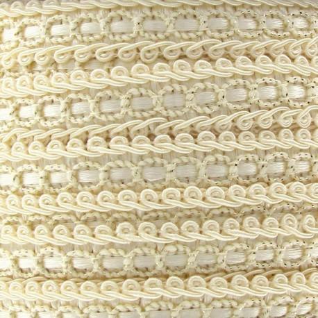 Dress braid trimming ribbon 13 mm - ecru