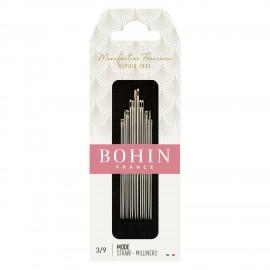 Straw Needles Assorted Sizes 3/9 BOHIN