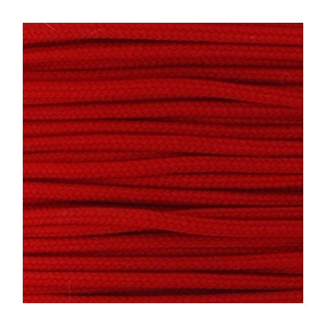 Cordon polyester 2mm rouge