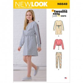 Casual Set Sewing Pattern for Kids - New Look 6649