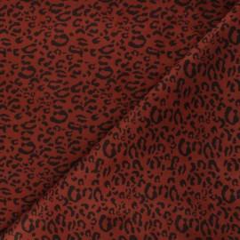 Suede elastane fabric - terracotta Leopard x 10cm