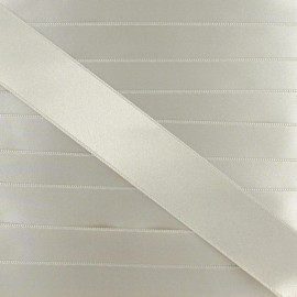 Satin ribbon - grey-beige