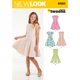 Patron Robe Patineuse Enfant - New Look 6360