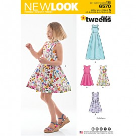 Pleated Dress Sewing Pattern for Kids - New Look 6570