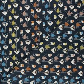 Printed jersey fabric - night blue Graphik fox x 10cm