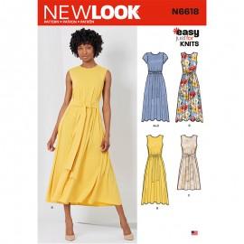 Patron Robe Ceinturée Femme - New Look 6618