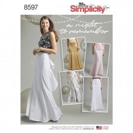 Mermaid skirt sewing Pattern for Woman - Simplicity n°8597