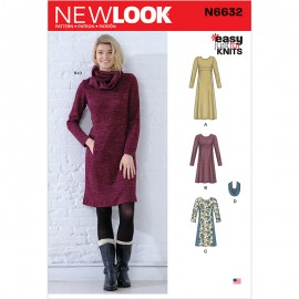 Jumper Dress Sewing Pattern for Woman - New Look 6632
