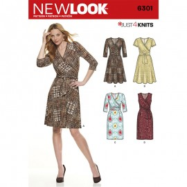 Patron Robe Cache Coeur Femme - New Look 6301