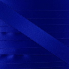 Ruban satin bleu roy