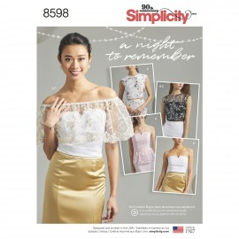 Bustier top sewing Pattern for Woman - Simplicity n°8598