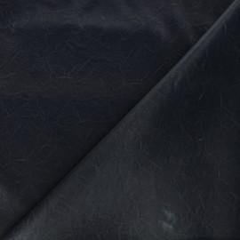 Tissu simili cuir souple Kassi - bleu nuit mat x 10cm