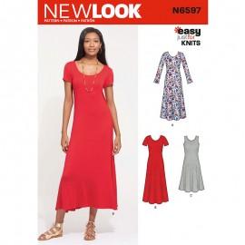 Patron Robe Longue Femme - New Look 6597
