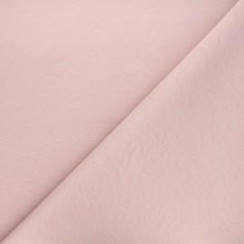 Imitation leather fabric - matte light pink Kassi x 10cm