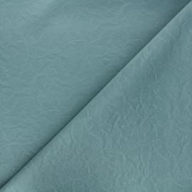 Tissu simili cuir souple Kassi - sarcelle mat x 10cm